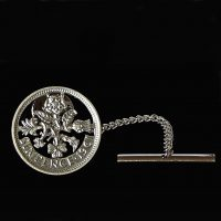 Tie Tack made from a Sixpence coin
